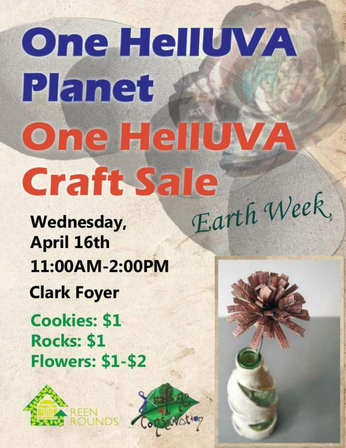 One HellUVAa Craft Sale on Wednesday!