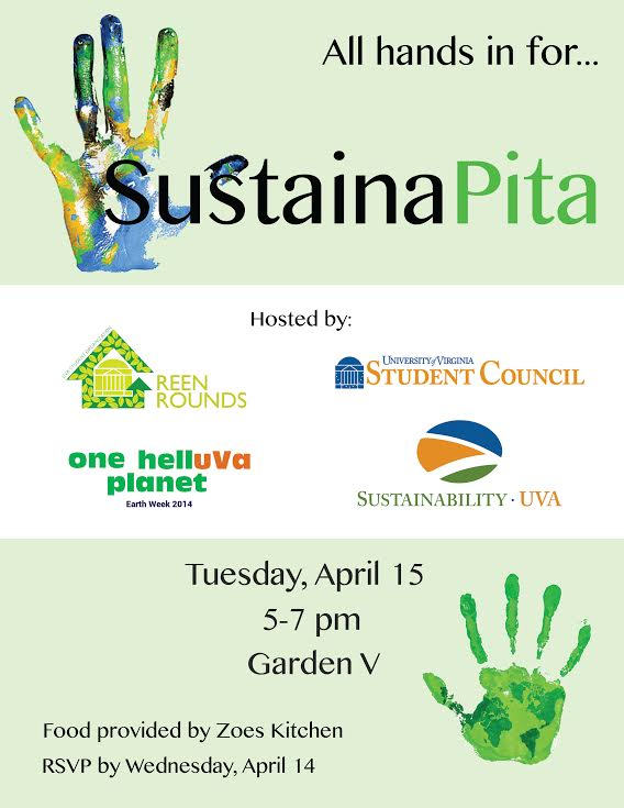 SustainaPita tomorrow! Rain location announced: Campbell 135